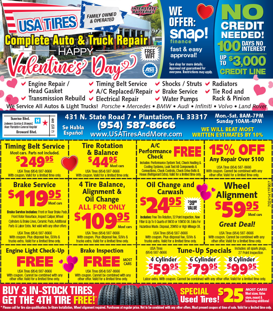 USA Tires & More Ad